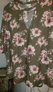 2xl LA Gypsy  babydoll blouse